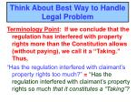 think about best way to handle legal problem2