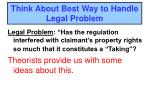 think about best way to handle legal problem3