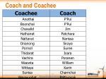 coach and coachee