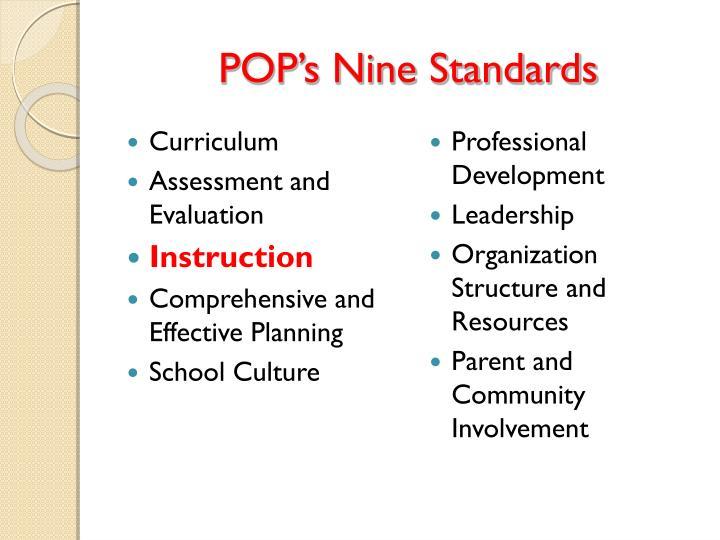 POP's Nine Standards