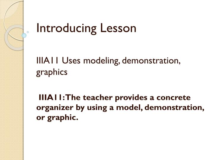 Introducing Lesson