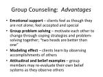group counseling advantages