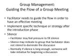 group management guiding the flow of a group meeting