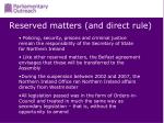 reserved matters and direct rule
