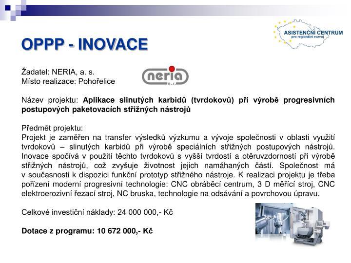 OPPP - INOVACE