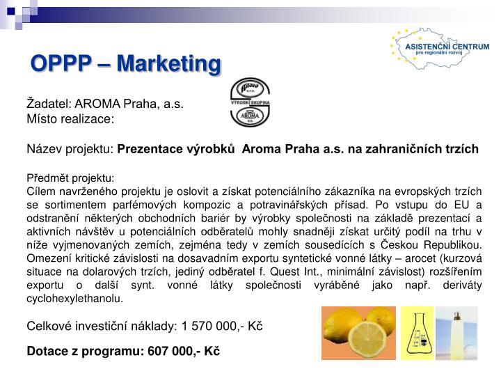 OPPP – Marketing