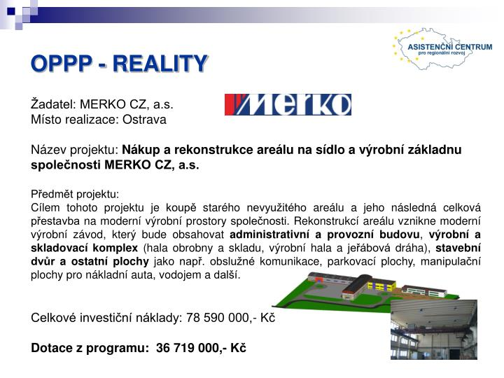 OPPP - REALITY