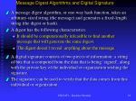 message digest algorithms and digital signature