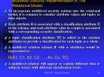 multilevel security implementation in the relational model