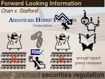 forward looking information