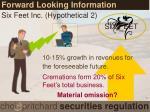 forward looking information2