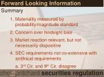 forward looking information3