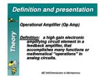 definition and presentation
