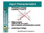 input characteristics1