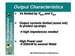 out put characteristics1