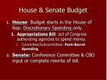 house senate budget