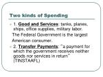 two kinds of spending