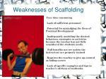 weaknesses of scaffolding