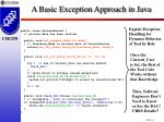 a basic exception approach in java
