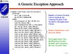 a generic exception approach