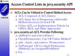 access control lists in java security api