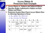access matrix protection state example