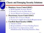 classic and emerging security solutions