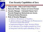 core security capabilities of java1