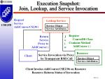 execution snapshot join lookup and service invocation