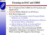 focusing on dac and urbs1