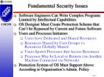 fundamental security issues