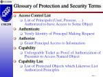 glossary of protection and security terms