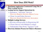 how does jini work