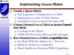 implementing access matrix