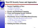 non os security issues and approaches