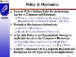 policy mechanism