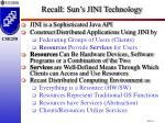 recall sun s jini technology