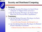 security and distributed computing1
