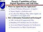 security capabilities of java digital signatures and jar files