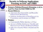 security in software applications focusing on dac and urbs