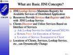 what are basic jini concepts