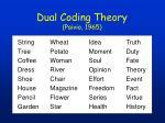 dual coding theory paivio 1965