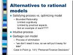 alternatives to rational models
