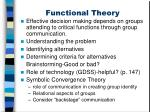 functional theory