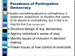 paradoxes of participative democracy