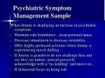 psychiatric symptom management sample