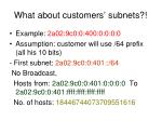 what about customers subnets