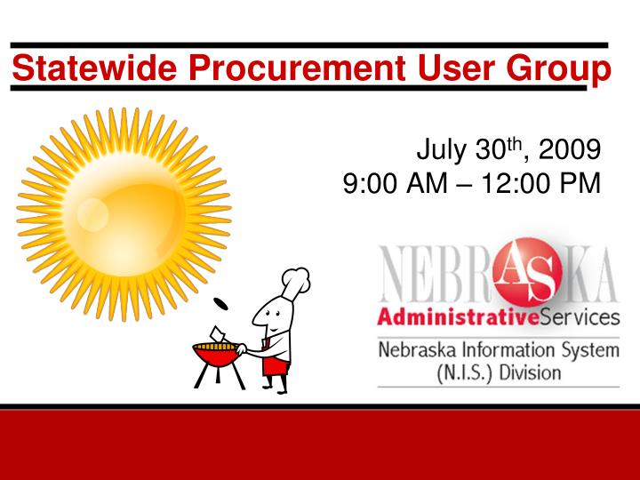 statewide procurement user group n.