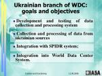 ukrainian branch of wdc goals and objectives