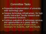 committee tasks
